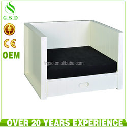 cheap white wood indoor pet dog cat kennel house design , cats houses for outdoor