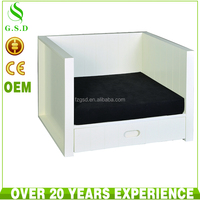 high quality cheap white wood dog kennel design wholesale