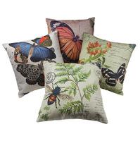 Floral Applique Embellished Car Cushion Pillow Vintage Cushion (XJCB6)