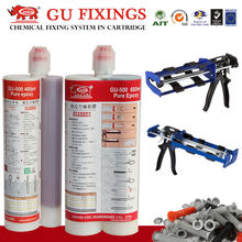 For high sticky two component injection adhesive glue