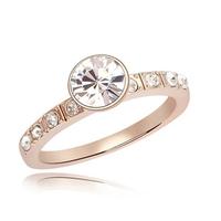 fashion wedding swarovski element crystal unique true love gold ring
