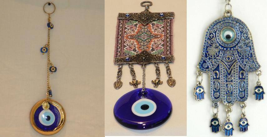 Turco mal de ojo Hamsa amuleto de la suerte de decoración de la pared