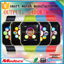 Hot sale china 2G GSM watch mobile phone with bulk silicone wrist watch straps