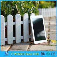 Cheapest 7inch Sanei G708 3G Phone Call MTK8312 Tablet PC Dual SIM 8GB ROM