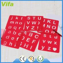 plastic drawing letter stencil set