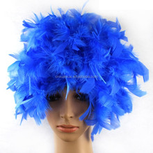 2015 New Arrival New Short Cosplay Wigs synthetic hair Feather wig Fun Wigs for party