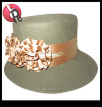 lady women plain church hats