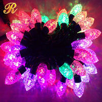For Christmas Solar LED String Lights for Party & Festival Decoration Indoor & Outdoor & Wedding 100 LEDs 10m