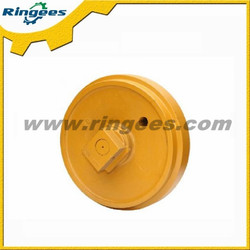 factory price front idler applicable to Hyundai R80-7 excavator, idler roller/assembly for Hyundai