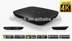 2014New Quad core android smart tv box, 4K hd media player with XBMC& mircast