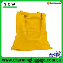 Yellow cotton canvas promotion tote bag