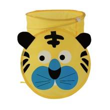 Pop up cartoon tiger mesh toy laundry hamper , the toy storage bin , tiger storage basket