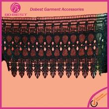 Manufacturer Fashion Hot Black Bridal Lace Jacquard Elastic Lace Trim
