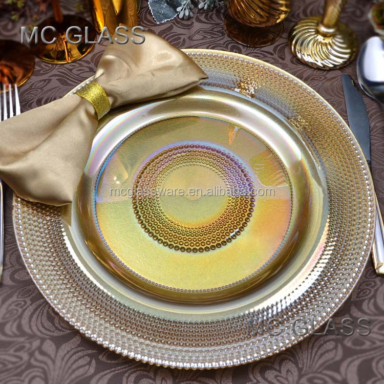 Cheap Wholesale Gold Wedding Charger Plates View Wedding
