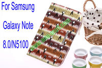 Gangnam Style Leather Case for Samsung Galaxy Note 8.0/N5100 With Card Slot