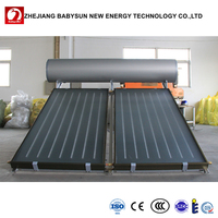 Compact pressurized 200L flat panel solar water heater with CE RoHS