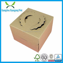 customize paper box die cut design manufacturer recyclable handheld kraft paper box made in China