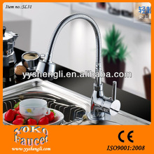 2015 top sale kitchen faucet in chrome plated