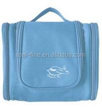 Multifunctional Travel Large Capacity Portable Pensile 300D High-grade Polyester Waterproof Toiletry Bag (Sky blue)