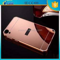 High quality metal mirror aluminum case for HTC Desire 820