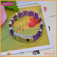 Customized high quality plastic letter bracelet charms # 1657