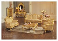 luxury classic European sofa set - living room furniture - wooden carved sofa set designs