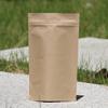 Brown kraft paper bag resealable food packaging bag with see through window