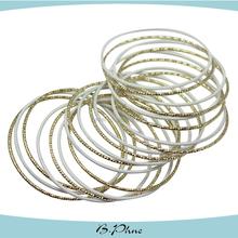 Imitation jewelry, Carved into different patterns gold plating bangle bracelet sets