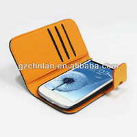 New 2013 products mobile phone wallet case for Samsung Galaxy S3 i9300