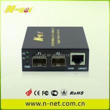 2 SFP Slots GE fiber port to rj45 Media converter fiber switch