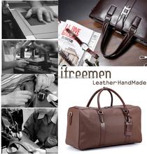 Cowhide leather handbag shoulder messenger bag man bag retro handmade leisure business documents backpack