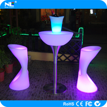 Glow light upscale LED cool cocktail table / mordern party LED light bar table / battery operated LED table