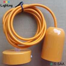 Hot sale colorful painted iron lamp cup for led ring pendant lamp hanging lights