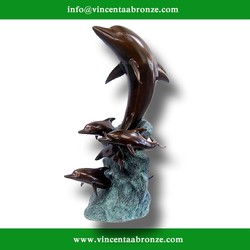 High quality China brand large bronze dolphin sculpture