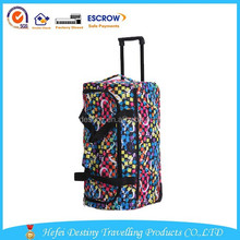 High quality new design fashional wterproof durable travelling trolley duffle bag