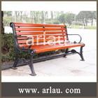 Top qualidade ao ar livre antigo de madeira parque banco com pernas de ferro fundido FW20