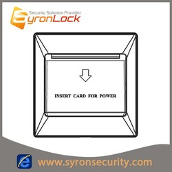 SYRON hotel energy saving switch helps reduce your energy costs
