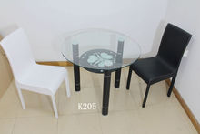 Round glass dining table set,glass top round dining table,wholesale abibaba