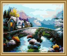 40*50cm zhejiang jinhua decoration wall scenery painting, acrylic painting European oil painting