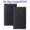 3 Folding PU Leather Flip Cover Case for Asus ZenPad S 8.0 Z580C