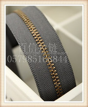 metal zipper bronz slider yiwu factory our material with all top quality beauty shine