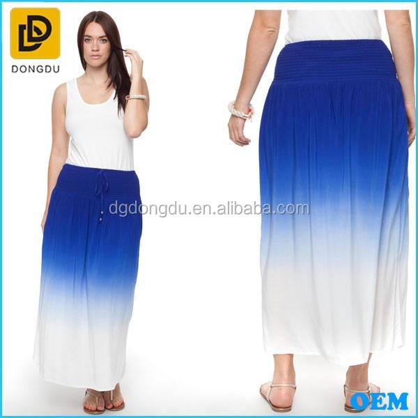 fashion dip dye maxi skirt professional china factory