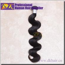 DK Hot sale 100% Human virgin hair Raw Unprocessed Indian hair Body wave 18inche Cheap price