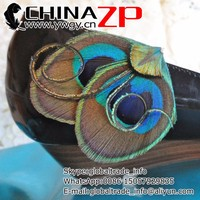 Wholesale cheap decorative ANDI Peacock Feather Shoe Clips for wedding