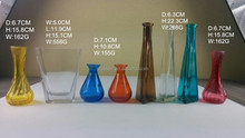High quality colored small glass vase with low MOQ made in China