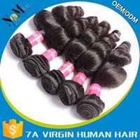 5a brazilian loose wave hair 100% brazilian hair clip-on hair extension