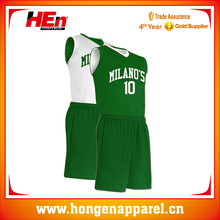 Hongen apparel reversiable italy basketball sets design logo name and number