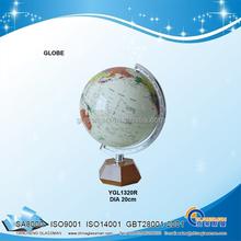 Plastic World Globe Leroy Tolman Map Spinning Wood Brass Base
