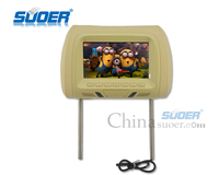 Suoer High Quality 7 Inch Car Player Car Headrest Monitor