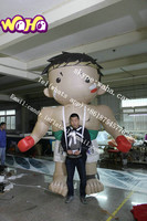 2015 New design giant inflatable boxer man for sale , inflatable cartoon girl